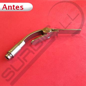 Reparación clip iluminación para laringoscopio